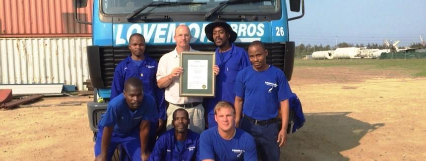 NOSA Excellence Award for Lovemore Bros