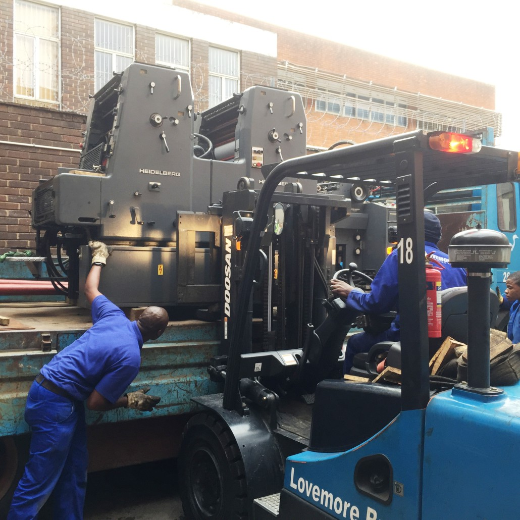 Lovemore Bros machine movers and rigging