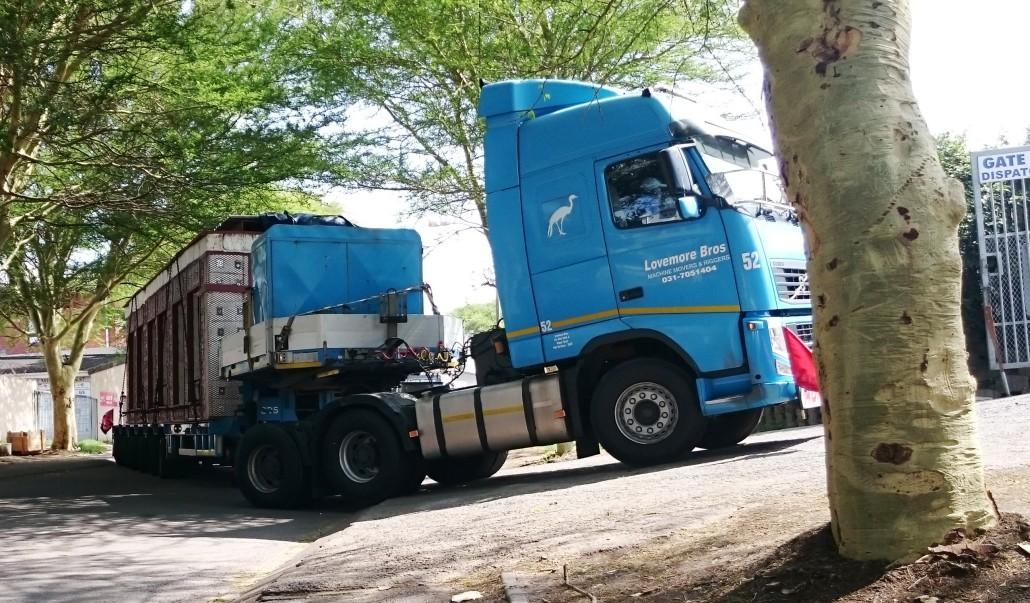 Lovemore Bros Machine moving and rigging